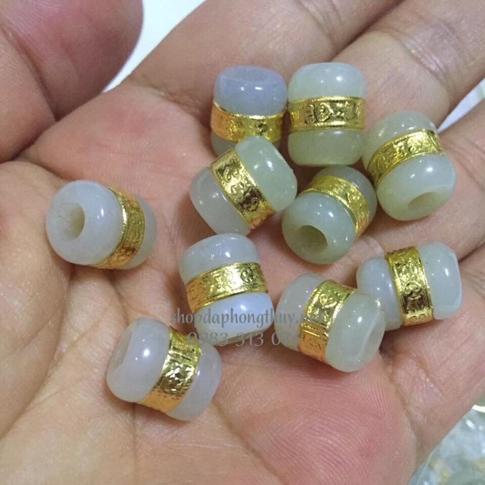 Lu thống bạch ngọc dát vàng 24k