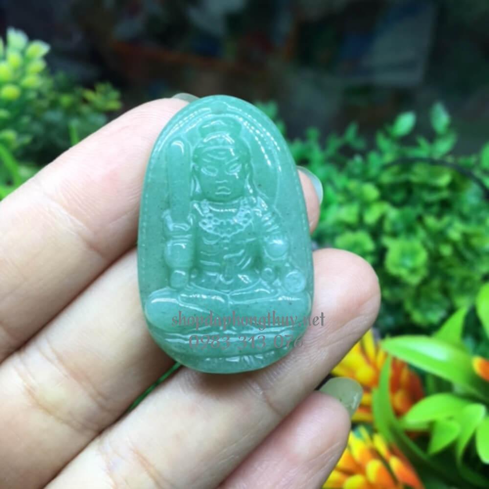 Phật bản mệnh bất động minh vương thạch anh xanh