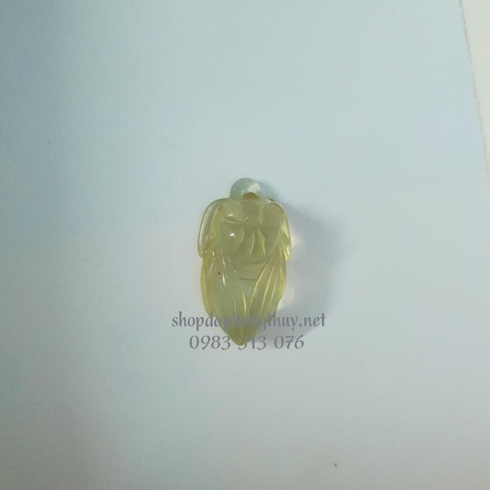 Ve sầu (ngọc thiền) đá thạch anh vàng