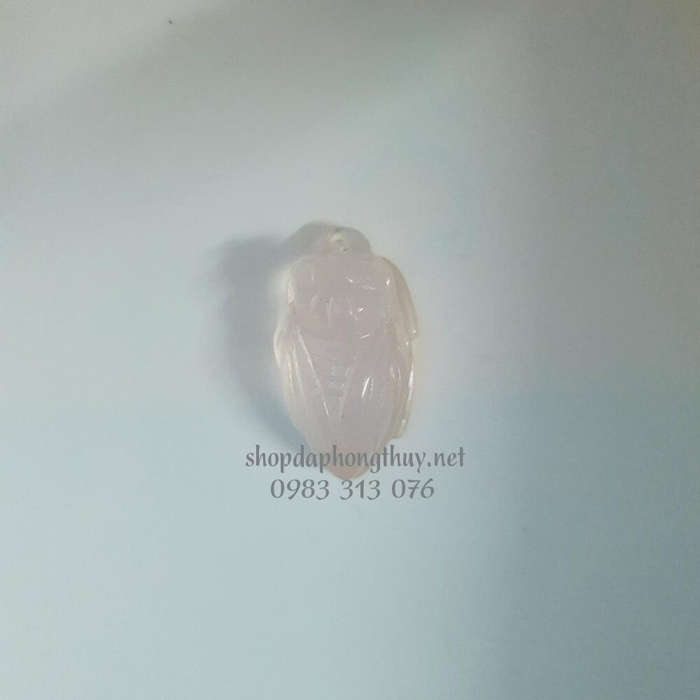 Ve sầu (ngọc thiền) đá thạch anh hồng