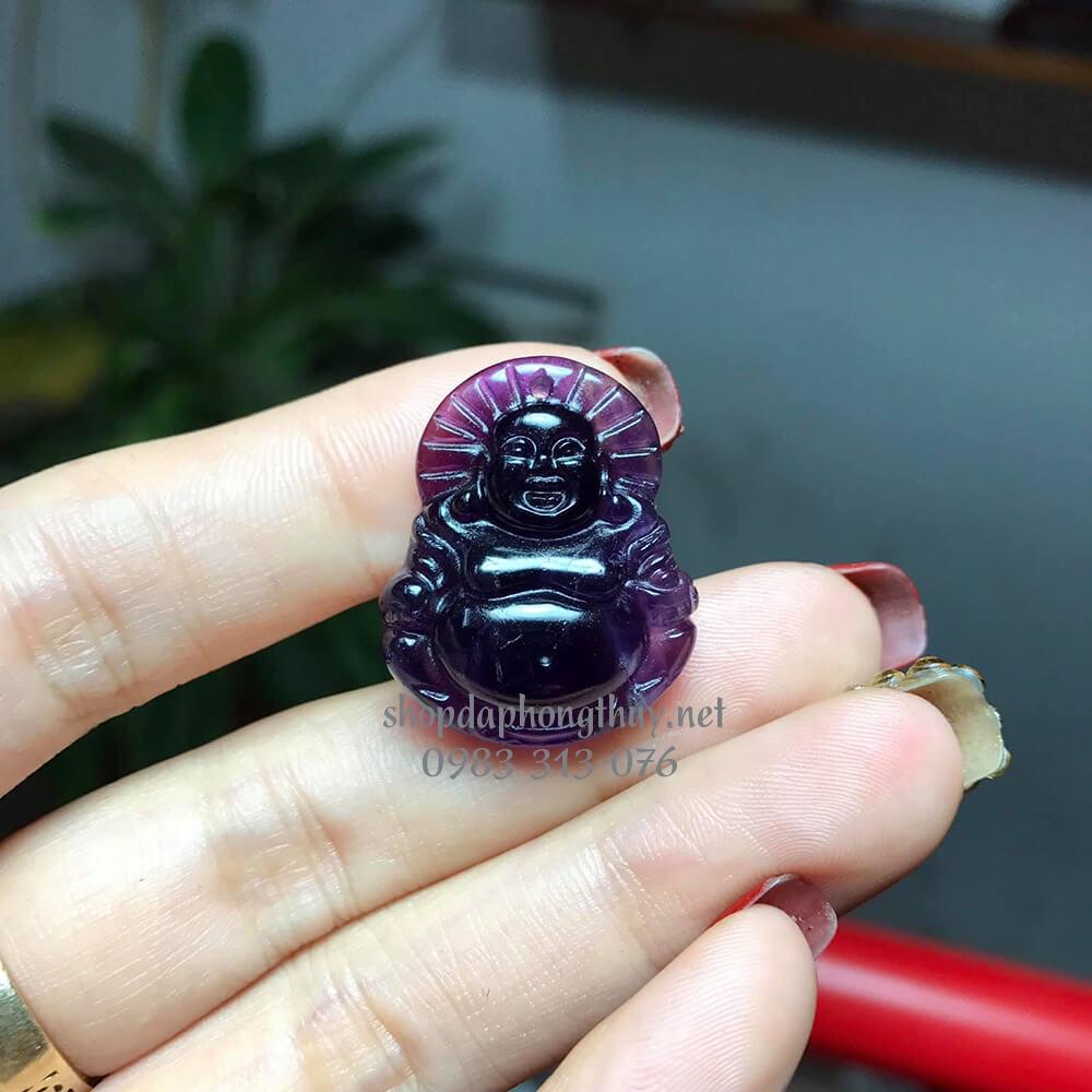 Phật di lặc đá thạch anh tím