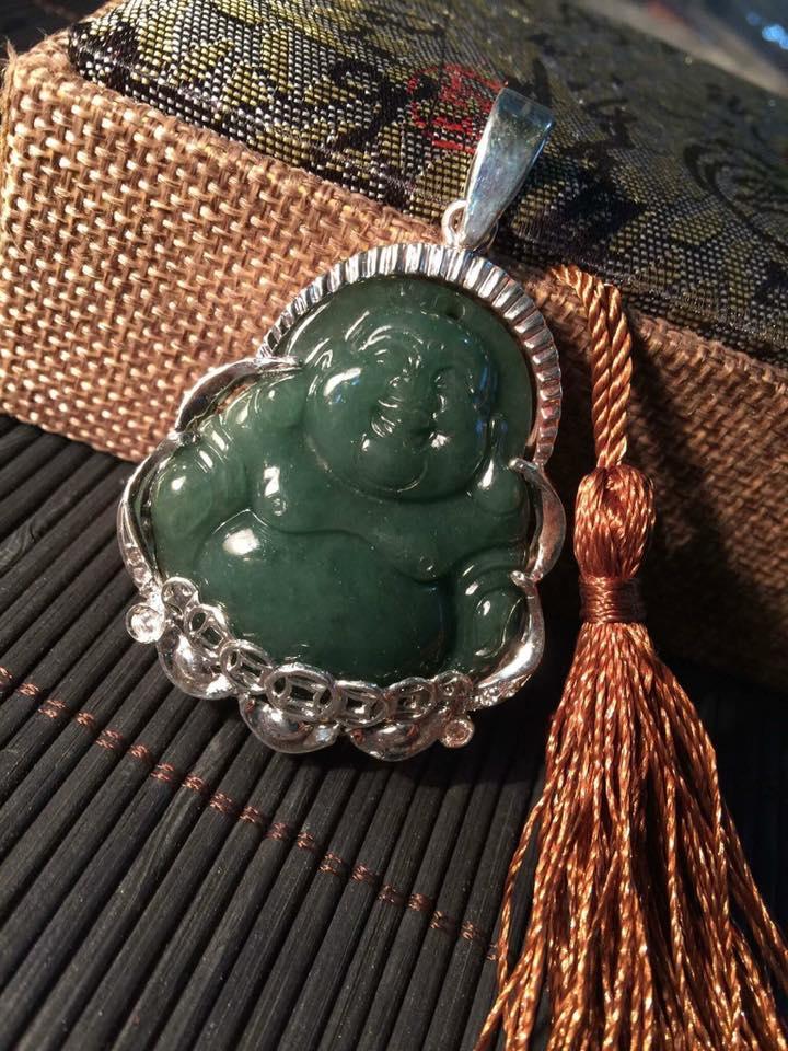 Phật di lặc ngọc cẩm thạch