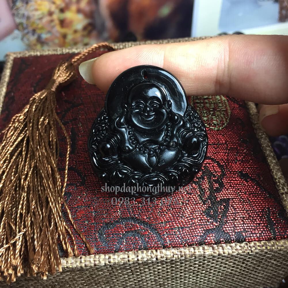 Phật di lặc đá obsidian