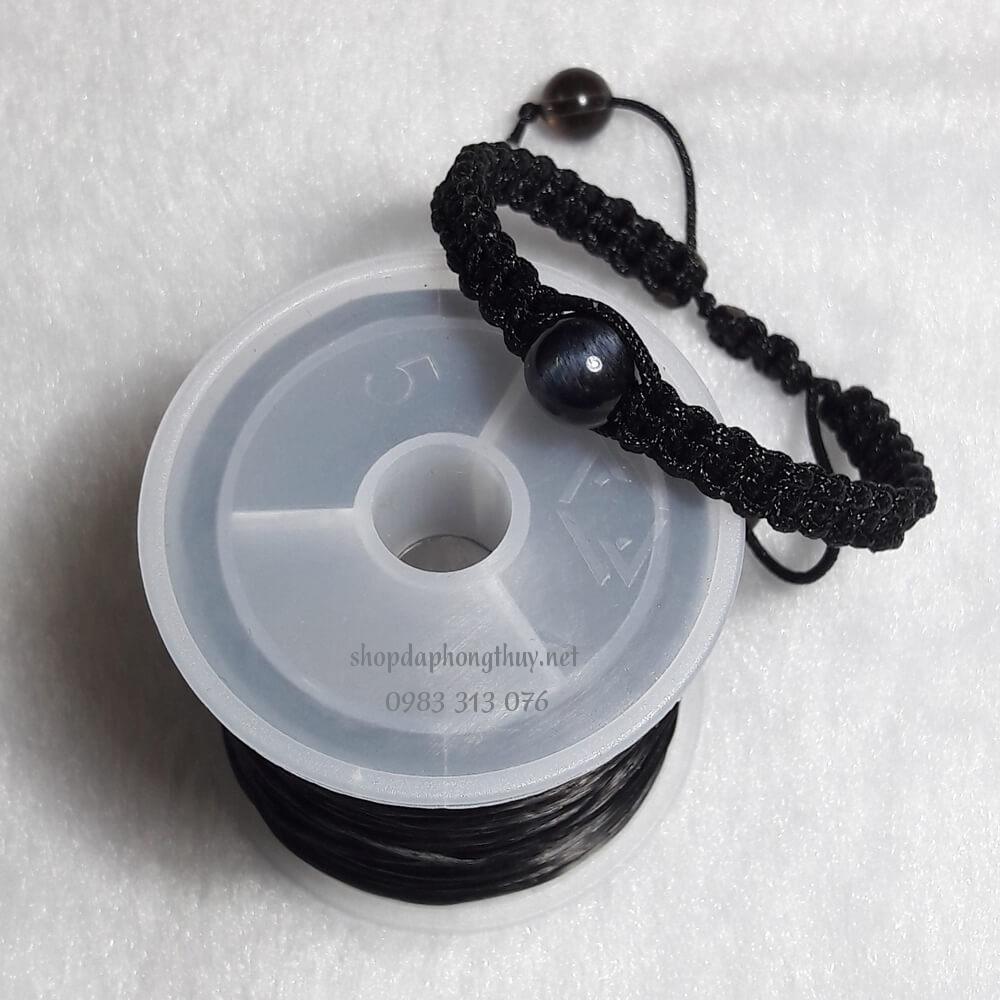 vòng đá mắt hổ đen handmade