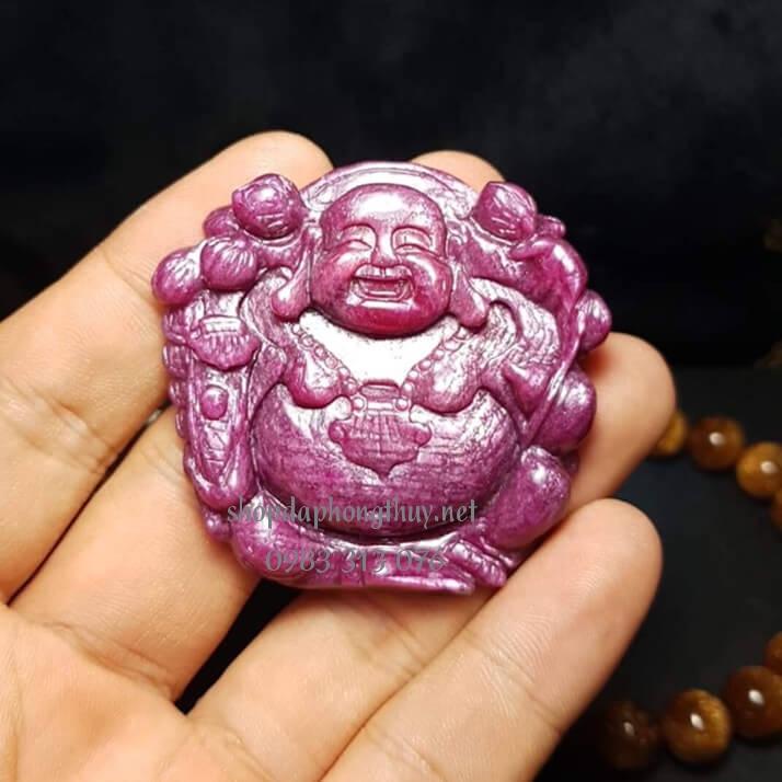 Phật di lặc đá ruby vip