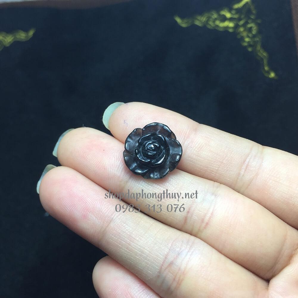 Hoa mẫu đơn đá thạch anh khói đen