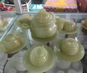 Bộ ấm trà ngọc pakistan