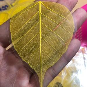 Lá bồ đề bình an - may mắn màu vàng