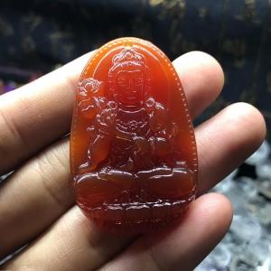 Phật bản mệnh đại thế chí bồ tát mã não đỏ