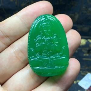 Phật bản mệnh như lai đại nhật mã não xanh