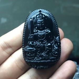 Phật bản mệnh văn thù bồ tát obsidian