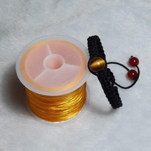 vòng đá mắt hổ nâu vàng handmade