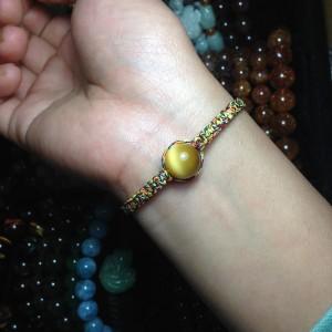Vòng đá mắt hổ vàng handmade